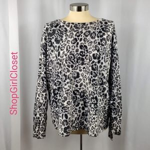 🆕️ Jones NY Leopard Long Sleeve Top - 100% Cotton